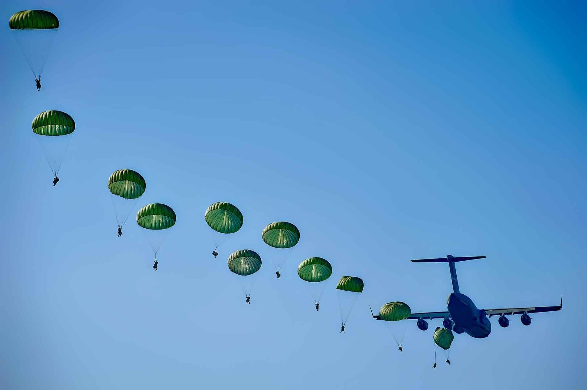 Parachure jump
